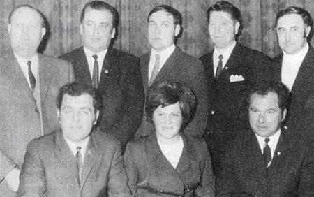 Vorstandsmannschaft 1971